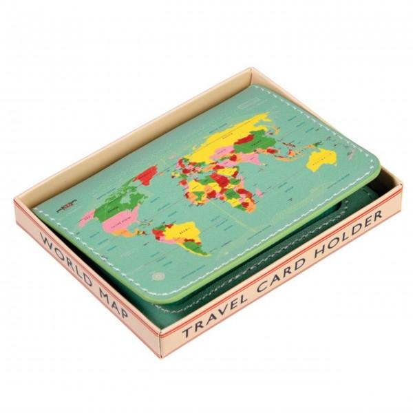 """Karten-Schutzhülle """"World Map"""" von Rex LONDON"""