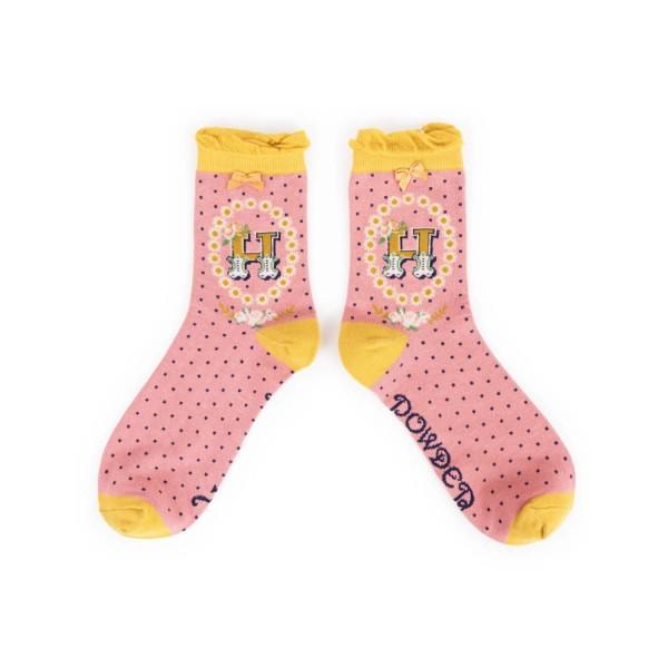 "Powder Damen Socken ""A-Z"" - Buchstabe H"