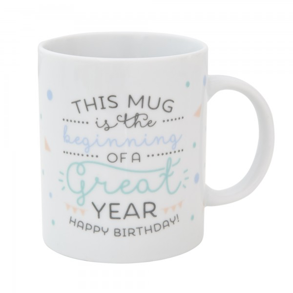 "Tasse ""This MUG is the beginning of a great year. Happy Birthday!"" von mr. wonderful*"