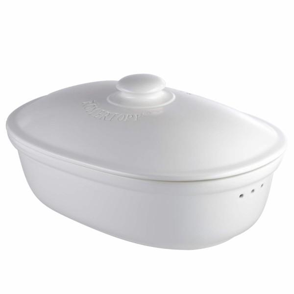 RÖMERTOPF® Brottopf oval (Weiss)
