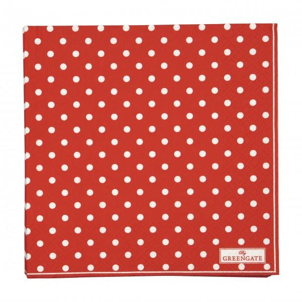"""GreenGate Papierservietten """"Spot"""" (Rot)"""