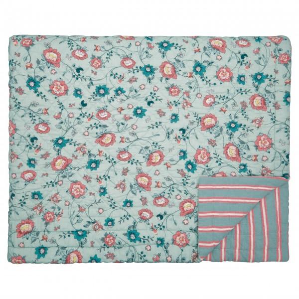 """Für ein gemütliches Schlafzimmer - die GreenGate Tagesdecke """"Sienna"""" - 140x220cm (Dusty Mint)"""