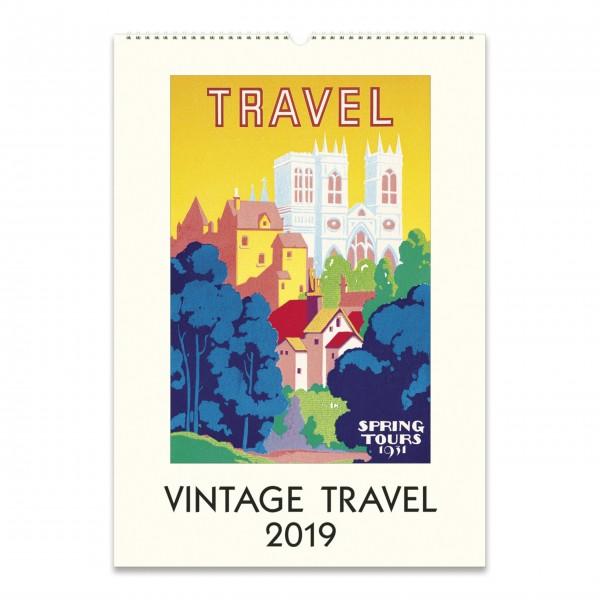 """Cavallini Wandkalender 2019 """"Vintage Travel"""""""