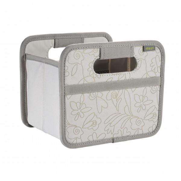 "meori Faltbox ""Natural Sand / Floral gold metallic print"" - Mini"
