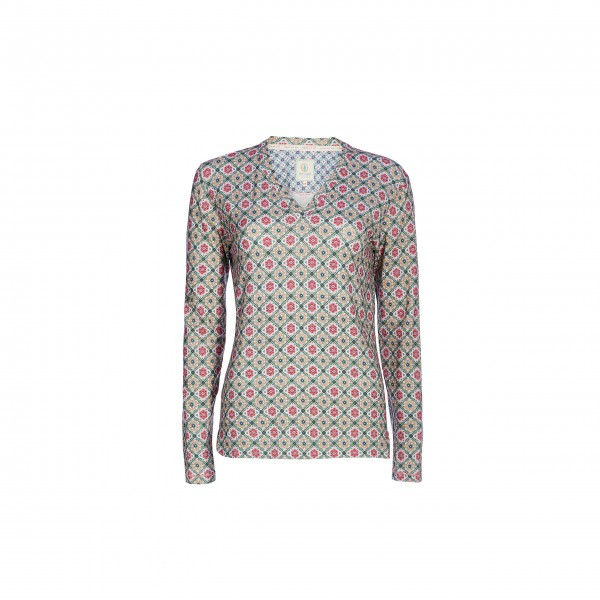 "Pip Studio Longsleeve ""Toby Double Check"" (Pink) - XS"