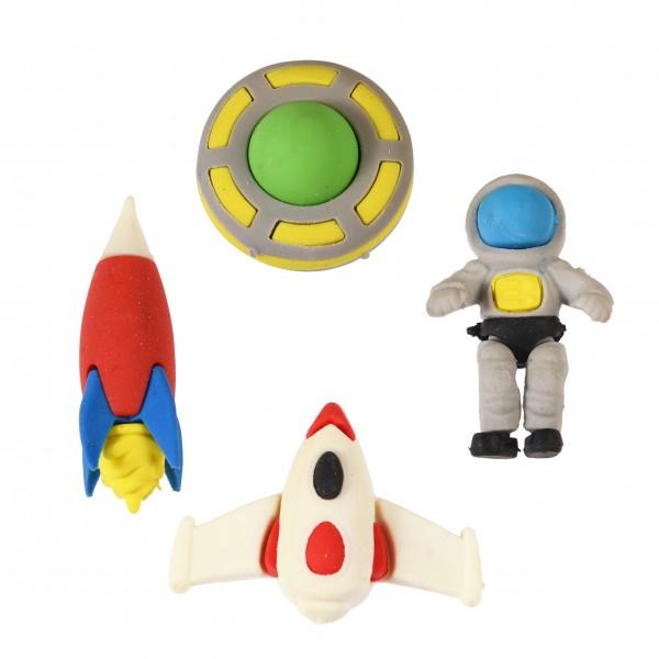 """Radiergummis """"Space Age"""" im 4-er Set von Rex LONDON"""