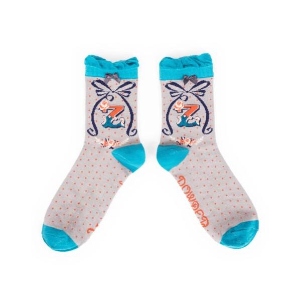 """Powder Damen Socken """"A-Z"""" - Buchstabe Z"""