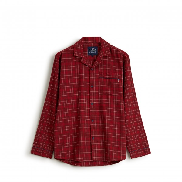 "Lexington Unisex Pyjama ""Checked Flannel"" - L (Rot)"