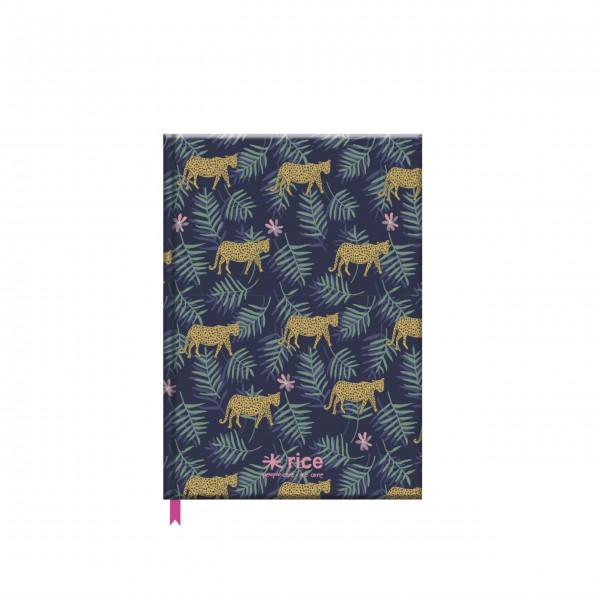 """Rice Notizbuch """"Leopard and Leaves""""-1"""