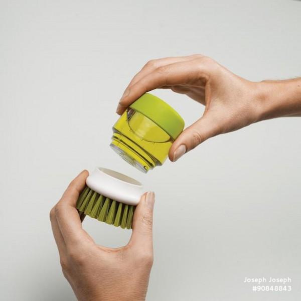 JosephJoseph Bürste mit Geschirrspülmittel Palm Scrub (Grün)