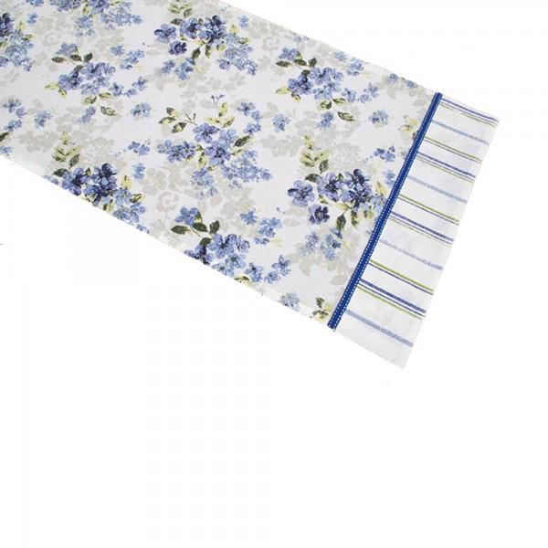 "Country Home Style Läufer ""Iris"" (blau/weiß) 40x100cm"