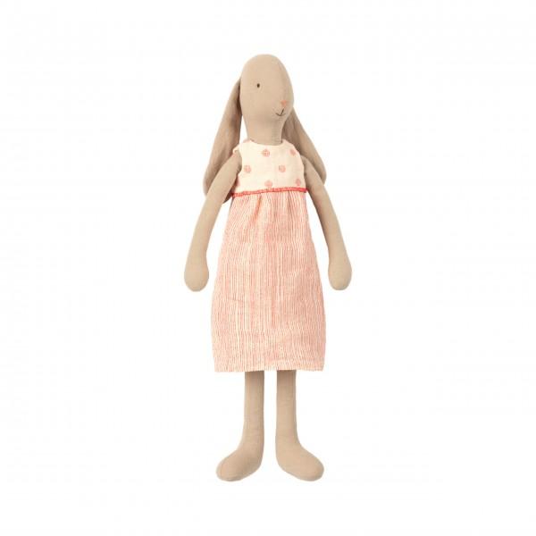 Maileg-Hase-im-rot/weißen-Kleid-(Medium)-16-9301-00-1
