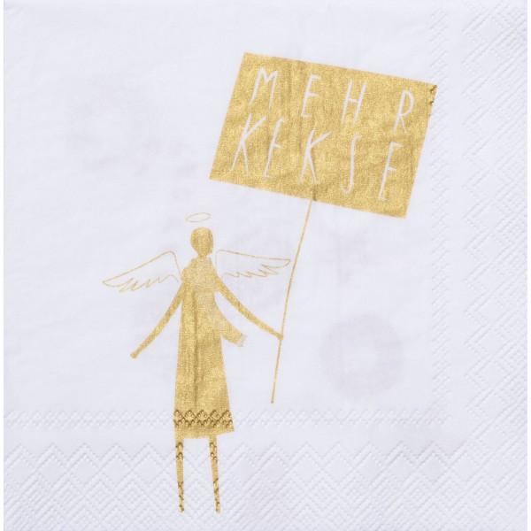 """Papierserviette """"DINING Mehr Kekse"""" - 20 Stk. (Gold) von räder Design"""