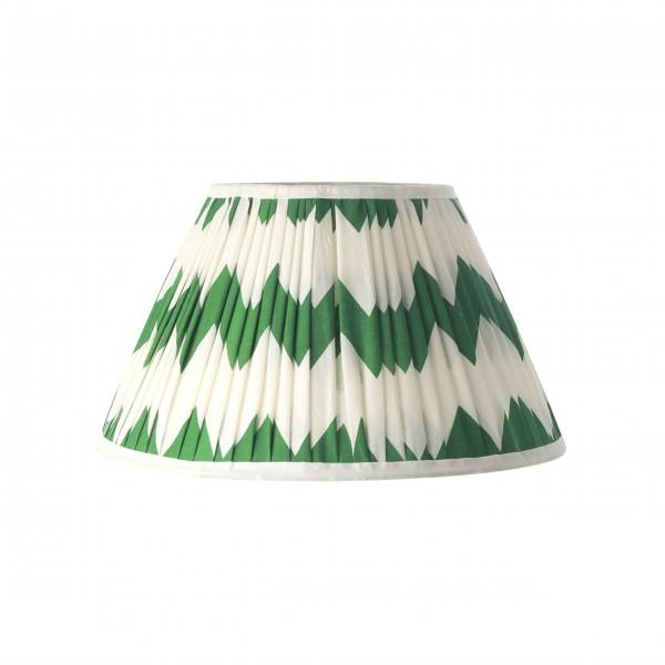 Rice Lampenschirm mit Zig Zag Design (Grün/Weiß)