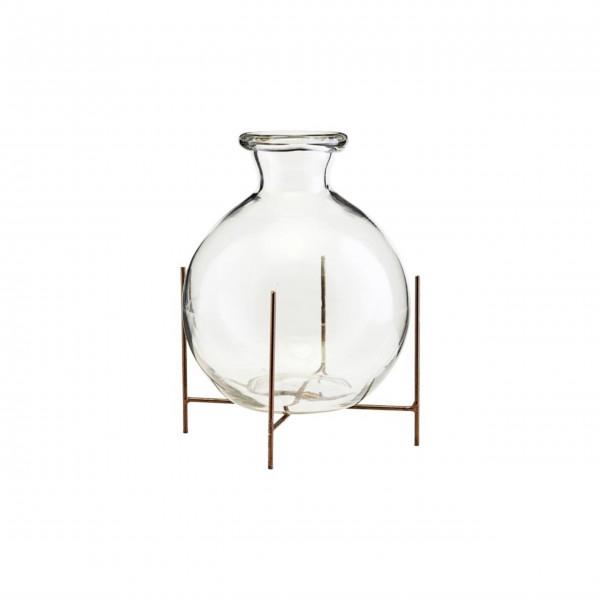 """Vase mit Halterung """"Lana"""" - 17x15cm (Glas/Metall) von House Doctor"""