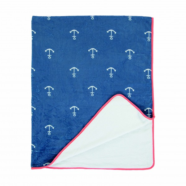 "Covers & Co Kuscheldecke ""Anchor"" (blue)"