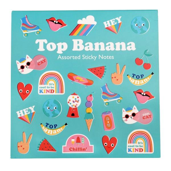 """Selbstklebende Notizzettel """"Top Banana"""" von Rex LONDON"""