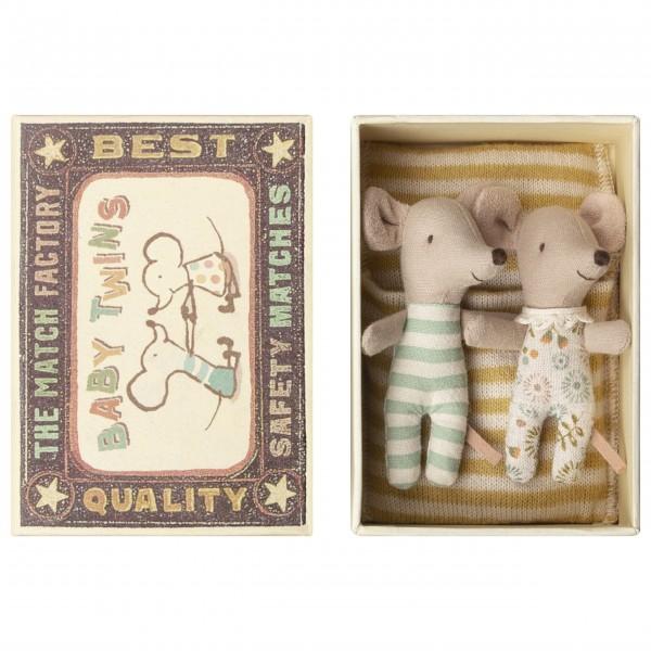 """Maileg Baby-Mäuse """"Zwillinge"""" in der Schachtel"""