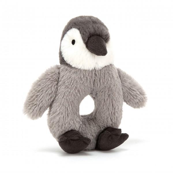 """Jellycat Percy Pinguin """"Greifring"""" (Grau/Weiß/Schwarz)"""