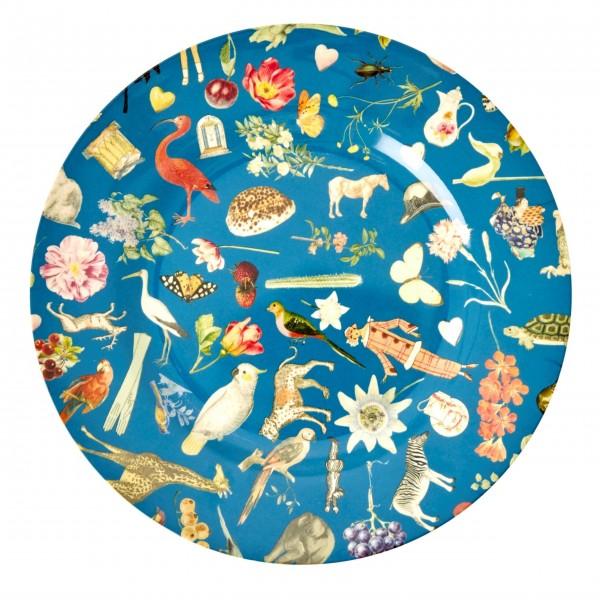 """Rice Melamin Essteller """"Art Print"""" (Blau)"""