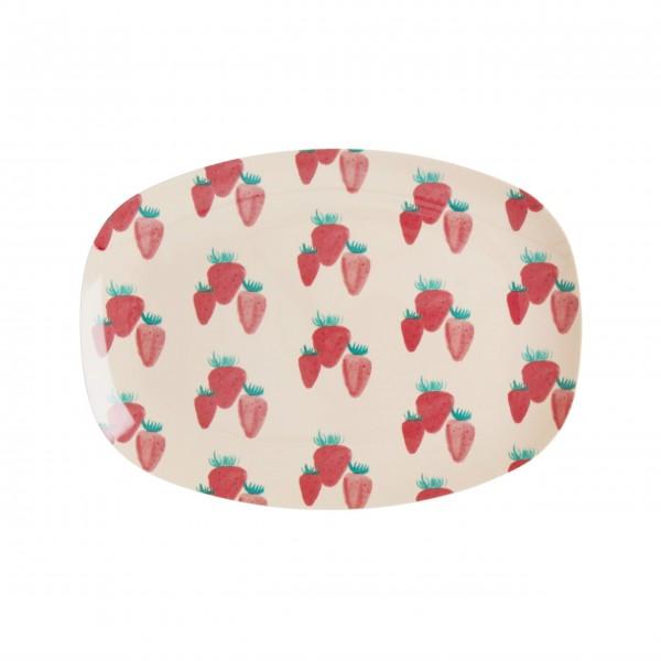 """rice Melamin Teller """"Strawberry"""" - Small"""