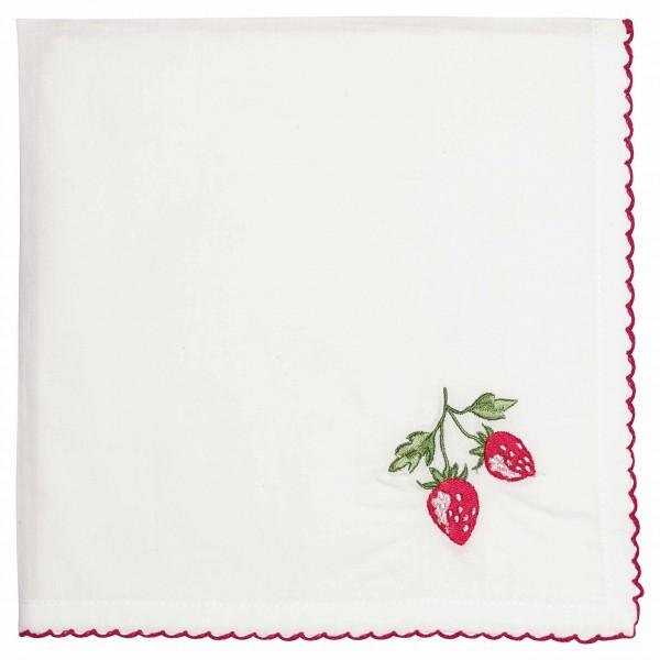 Mit aufgestickter Erdbeere: Serviette von GreenGate