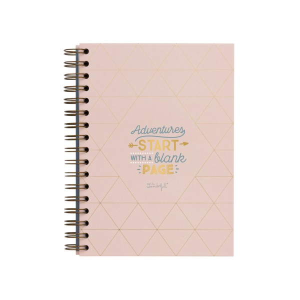 "Notizbuch ""Adventures start with a blank page"" von mr. wonderful*"