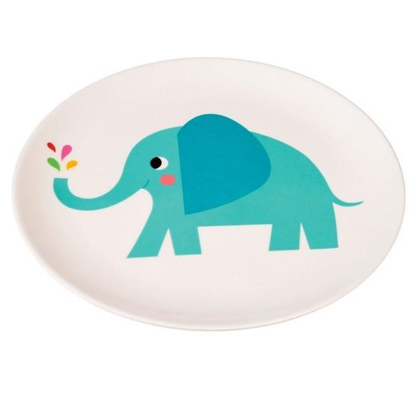 Super süßer Melaminteller mit Elefant Elvis
