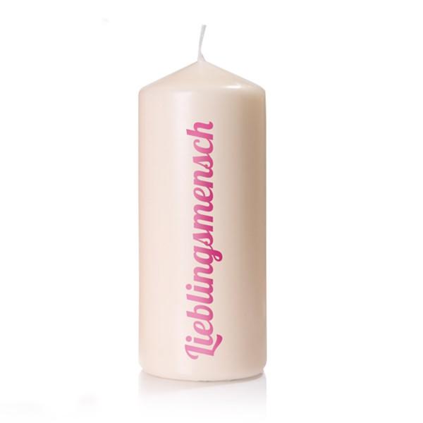 """Schöne Geschenkidee - Kerze """"Lieblingsmensch"""""""