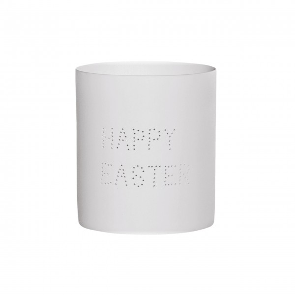 "Bloomingville Teelichthalter ""Happy Easter"" (Weiß)"