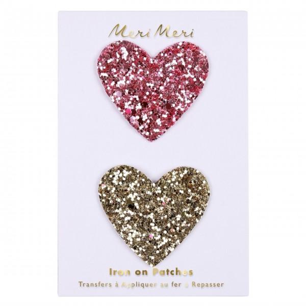 """Aufnäher Patches """"Glitter Heart"""" von Meri Meri"""