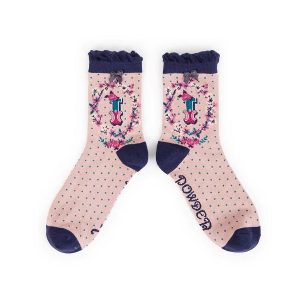 "Powder Damen Socken ""A-Z"" - Buchstabe I"