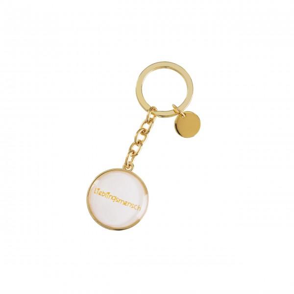 """Schlüsselanhänger Lieblingsmensch """"Cabochon"""" (Gold) von Gift Company"""