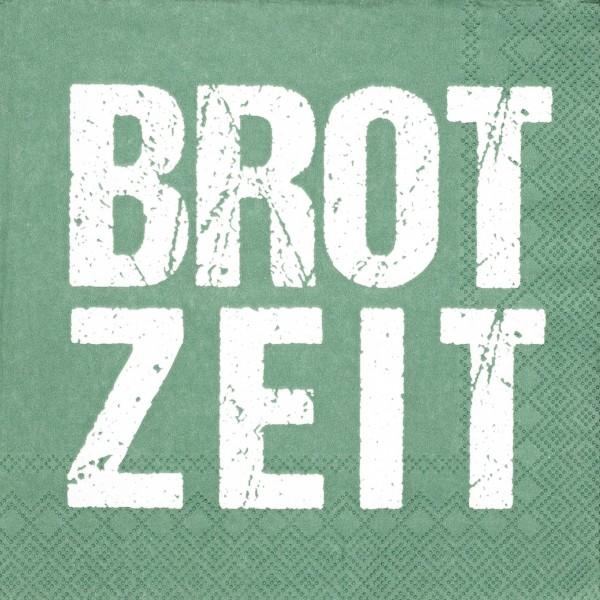 """Papierservietten """"Brotzeit"""" (Grün) - 33x33cm von räder Design"""