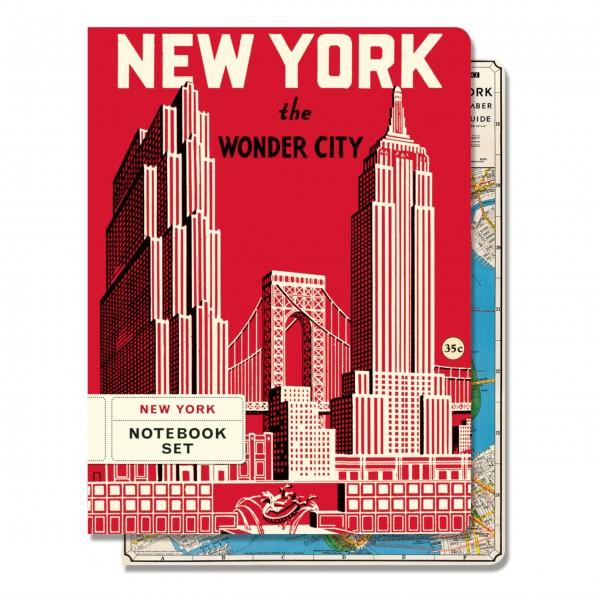"""Cavallini Notizbuch-Set """"New York"""""""