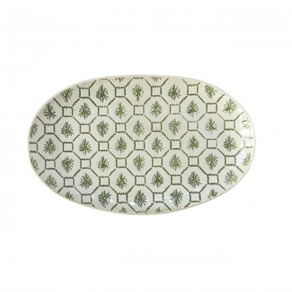 """Ovale Teller """"Gatherings"""" (Weiß/Grün) von Creative Collection by Bloomingville"""