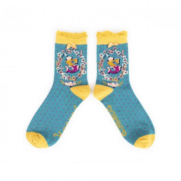 """Powder Damen Socken """"A-Z"""" - Buchstabe S"""