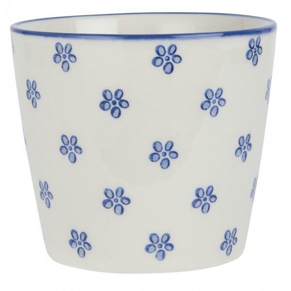 """Ib Laursen - Kleiner Keramikbecher """"Casablanca Bloom"""" (Blau)"""