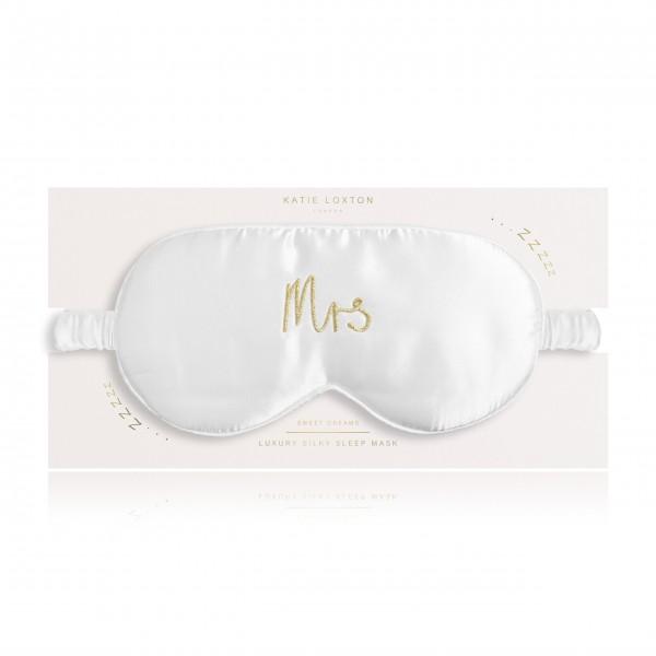 """Schlafmaske """"Mrs"""" (Weiß) von KATIE LOXTON"""