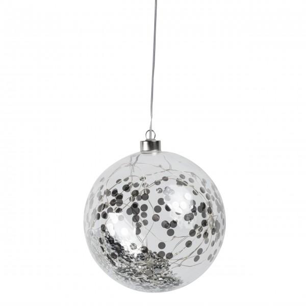 """Lichtkugel mit Timer """"LIVING Konfetti"""" - Groß (Silber) von räder Design"""