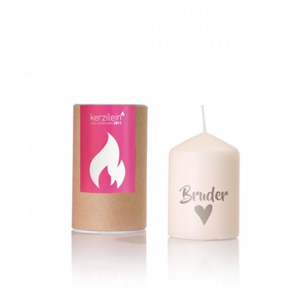 Für den besten Bruder der Welt: kleine Kerze von Kerzilein