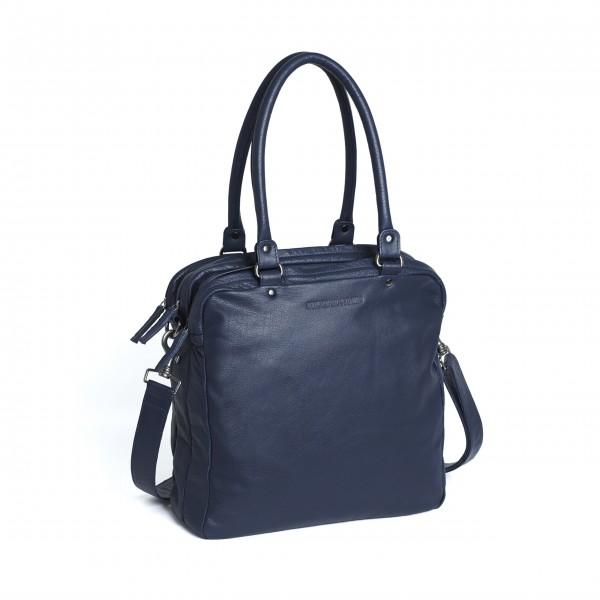 """Sticks and Stones Tasche """"Austin Bag"""" (Dark Blue) - Gewaschenes Rindsleder"""