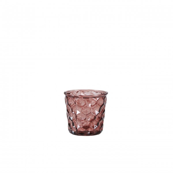 Bahne Votive glass rose