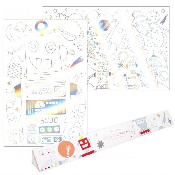 """Malbogen """"Weltraum"""" - XL von Meri Meri - 2er-Pack"""