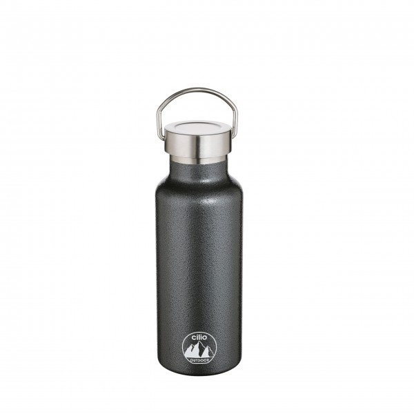 """Perfekt für unterwegs: die Isoliertrinkflasche """"Grigio"""" von cilio"""