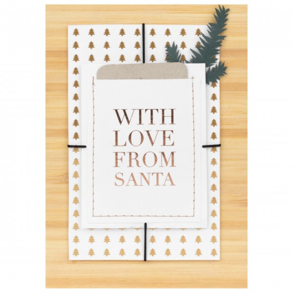"""Weihnachtskarte """"With love from santa"""" von räder Design"""