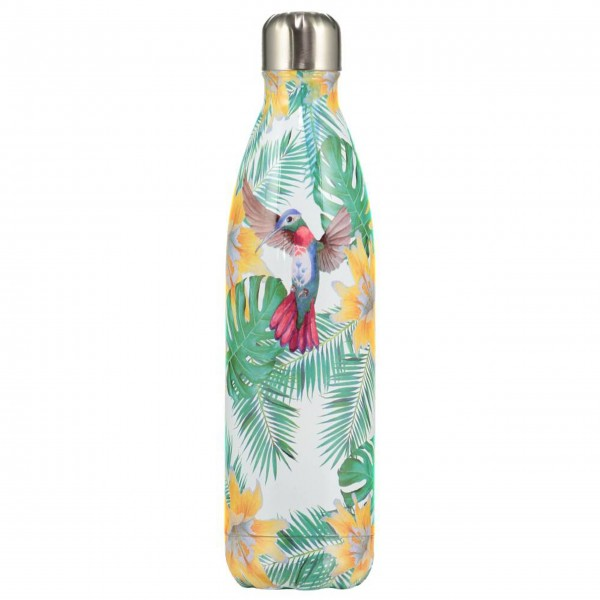"CHILLY'S Bottle Isolierflasche ""Tropical Flowers"" - 500 ml (Grün/Gelb)"
