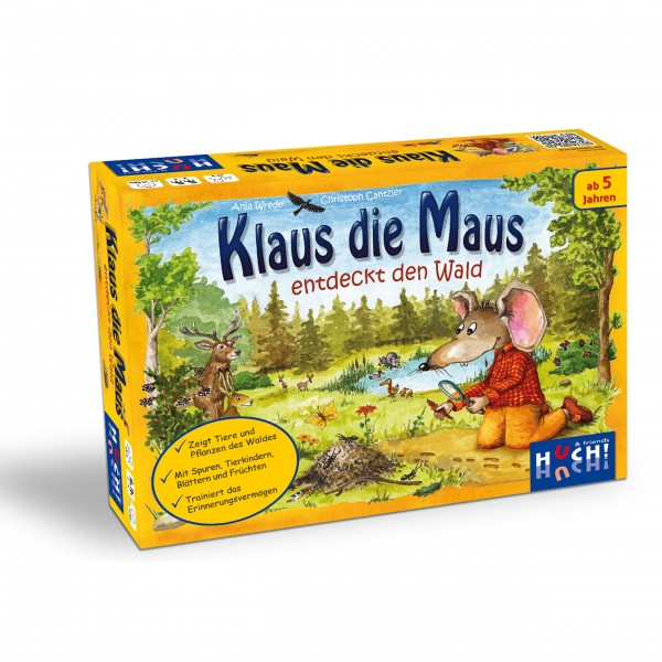 Kinderspiel Klaus die Maus entdeckt den Wald von HUCH!