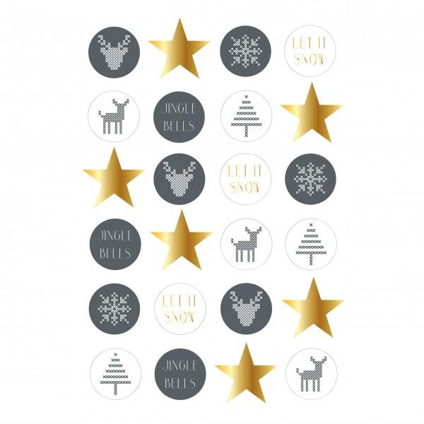 Weihnachtliches Sticker-Set von Bloomingville