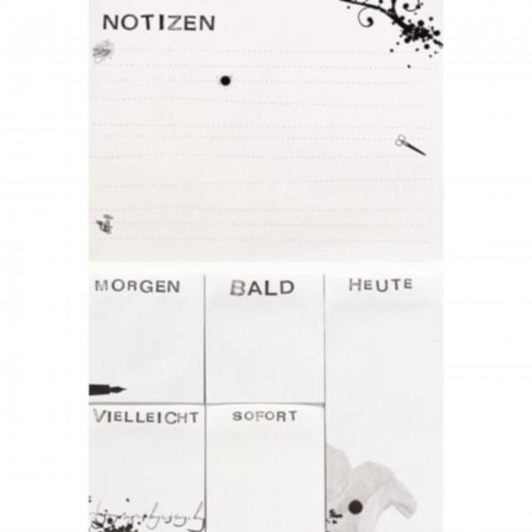 """Paper & Poetry Memo Block """"Ordnung braucht nur der Dumme..."""" von räder Design"""